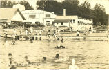 People swimming near Surf Ballroom, Clear Lake, Iowa, 1920s