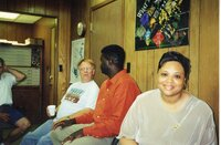 2000 - Ron Snyder, JB and Theresa Martin at JB's going away party