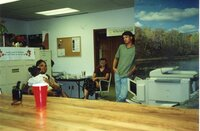2000 - Theresa and Jaria Martin, Deb Nace and Chris Hogge at JB's going away party