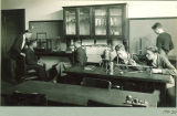 High school science laboratory, The University of Iowa, March 1927