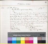 23. Iowa Adj. Gen. Nathaniel B. Baker to Lincoln on promotion for S.M. Preston