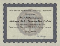 Soil Judging Contest Award - 2009.