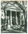 East portico of Schaeffer Hall, the University of Iowa, 1950s?