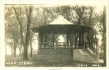 Bandstand in Lewis, Iowa, 1916