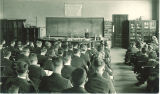 Professor Rockwood lecturing, The University of Iowa, 1930s