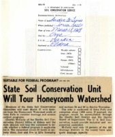 State soil conservation until will tour Honeycomb Watershed.