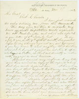 54. Gen. Samuel R. Curtis to Lincoln on Curtis's removal from command
