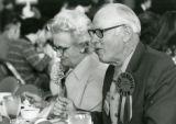 Cy's Favorite Alum, Sam Hamilton enjoying a meal at Homecoming, 1973