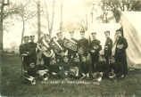 University band at Camp Carroll, The University of Iowa, 1910