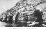 Sea caves and wave erosion, LaJolla, Calif., late 1890s or early 1900s