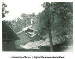 Houses on hillside, China, 1944