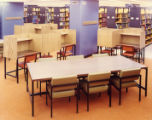 Library study tables and desks in the 1st Addition, 1966