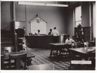 012. Circulation room at the Fairfield Public Library in 1965