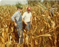 Ted Cory and Boyd Burton stand in Cornfield