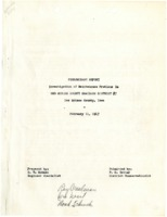 1947 - Preliminary Report: Investigation of Maintenance Problems in Des Moines County Drainage District #7, Des Moines County, Iowa