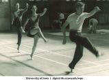Dance students practicing, The University of Iowa, 1937