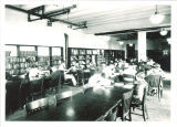 Students reading in University High School library, The University of Iowa, 1940s?