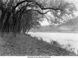 Iowa River near Park Street Bridge, Iowa City, Iowa, 1920s