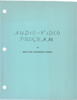 1973 Audio Video Program