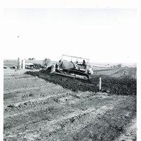 Terrace construction on Harold Sullivan farm