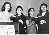 Multiracial quartet in performance, First United Methodist Church, Iowa City, Iowa, late 1940s