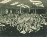 Senior dentistry class of 1916-1917 in Infirmary of Old Dental Building, The University of Iowa, 1916