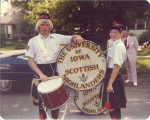 Scottish Highlanders Mark Isaacs and Lisa Falk in Alma, Michigan, The University of Iowa, 1977