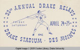 Drake Relays Promotional Post Card, 1942