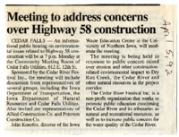 Highway 58 Construction