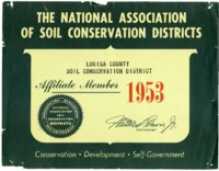 Louisa County Soil and Water Conservation District binder, 1953-1993