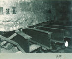 Rebuilding the foundation in Old Capitol, The University of Iowa, 1922