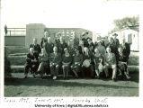 Class of 1897 reunion at Iowa Memorial Union bridge, The University of Iowa, June 5, 1937