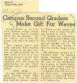 Campus second graders make a gift for Waves