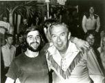 Students with Buffalo Bob at Homecoming, 1973