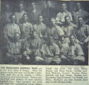 The 1907 Oskaloosa Baseball Team; Class D Iowa League