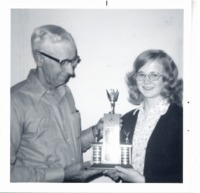 Speech contest winner, Julie Thole, 1975