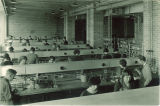Students working in the inorganic chemistry lab, The University of Iowa, 1930s