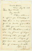 25. Lincoln to Wait Talcott indicating appointment for Talcott