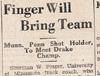Drake Times-Delphic, 1932, Finger Will Bring Team