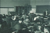 Students at work in zoology classroom, The University of Iowa, 1930s?