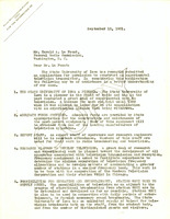 Correspondence between University of Iowa radio station manager Carl Menzer and Harold A. Lafount of the Federal Radio Commission, and attached letter between Carl Menzer and Senator Smith W. Brookhart, September 15, 1931