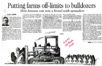 Putting Farms Off-Limits to Bulldozers