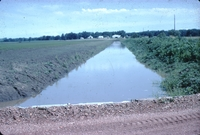 Drainage ditch, looking North from Doyle Anderson's private road bridge.
