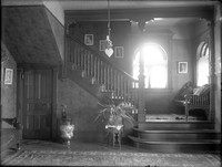 HI 100  Wyman home, hall and stair