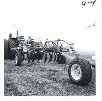 Russ Hartvigsen farm's minimum tillage equipment, 1969