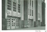 North-east angle of the north entrance of the Main Library, the University of Iowa, 1950s
