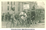Bicyclists in Mecca Day parade, The University of Iowa, 1922