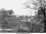 Interurban tracks, Iowa City, Iowa, May 1926