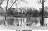 City Park lagoon, Iowa City, Iowa, between 1915 and 1920