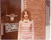 This is Sherry Cole on her last day of training in the Davis County Soil Conservation Office in april of 1977